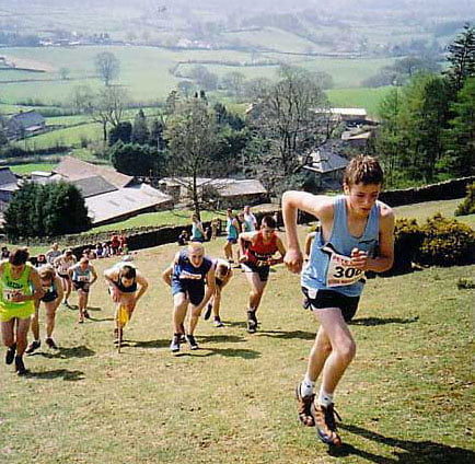 Junior Fell Runners at the Arant Hawe Race, Sedbergh 2007