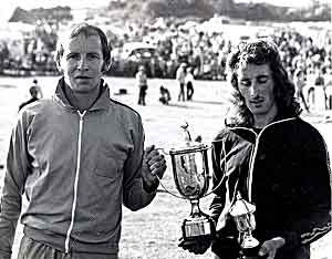 Roger Ingham receiving cup