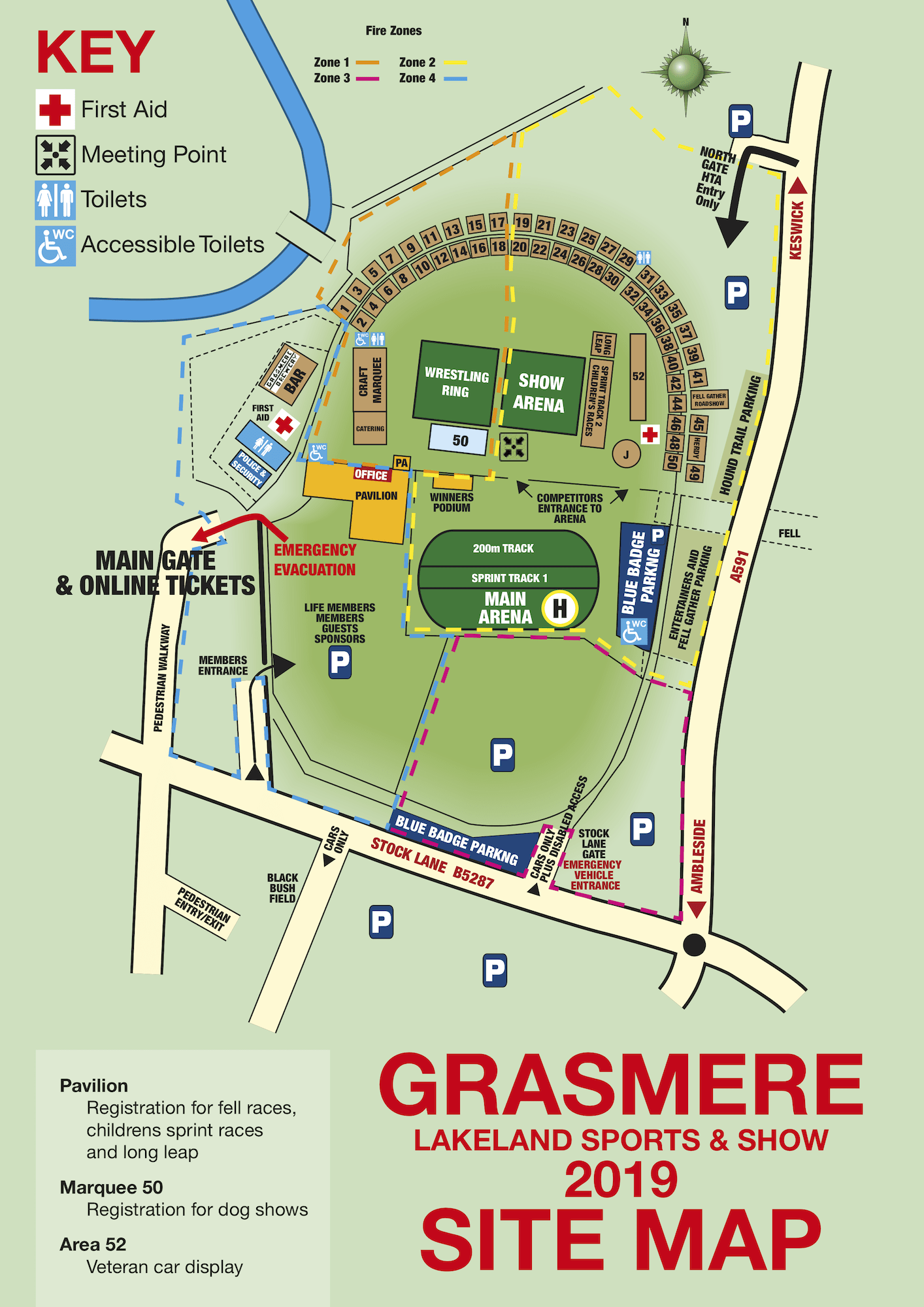 Grasmere Sports Site Plan 2019
